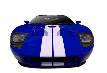 Deurstickers Snelle auto s blue american sports car