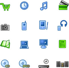 colourful e-shop icons