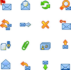 colourful mail icons