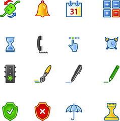 colourful software icons