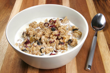 Granola Cereal with Milk