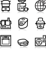 Black contour web icons, set 17