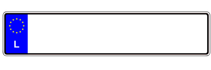 Autokennzeichen - Luxemburg