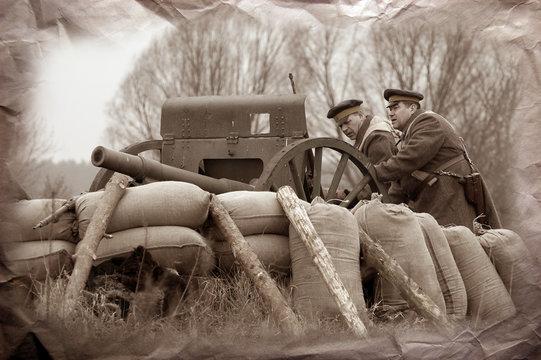 Artillery team WWI