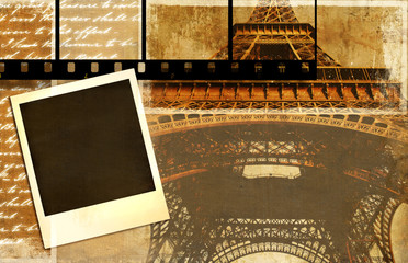 Wall Mural - parisian memories - vintage photoalbum