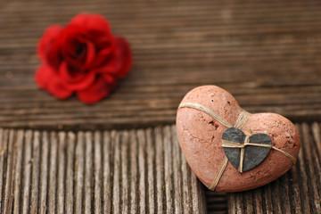 liebe rose herz