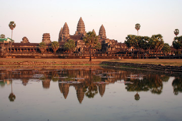 sunset by Angkor