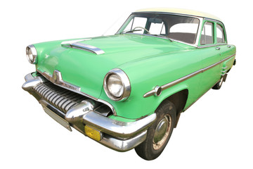 Recess Fitting Vintage cars green retro car 50's
