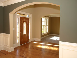 Luxury Stained Glass Door with Arch 3