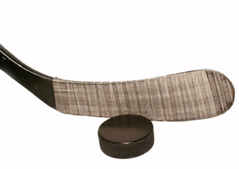 stecca e disco da hockey