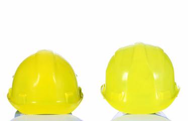 two yellow helmet