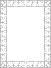 Frame in Egyptian style (b\w)