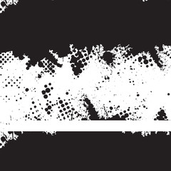 Vector - Halftone ink splat grunge background for text.