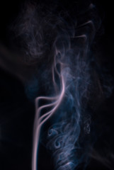 Colored smoke wisps