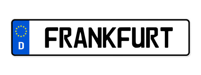 Kennzeichen Frankfurt