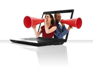 Laptop Megaphone