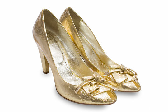 yellow shoes isolated