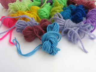 Woolen coloured yarn