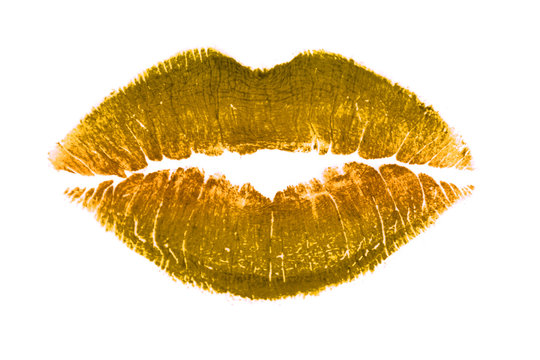 Golden lips kiss