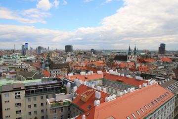 Vienna. View of the city from above