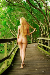 Naked long haired blond