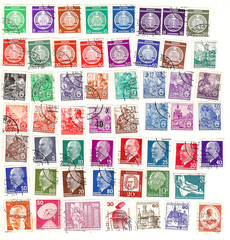collection of vintage german stamps
