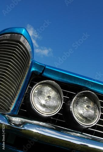 Wall mural metallic blue classic american car abstract