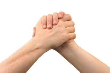 Two greeting hands