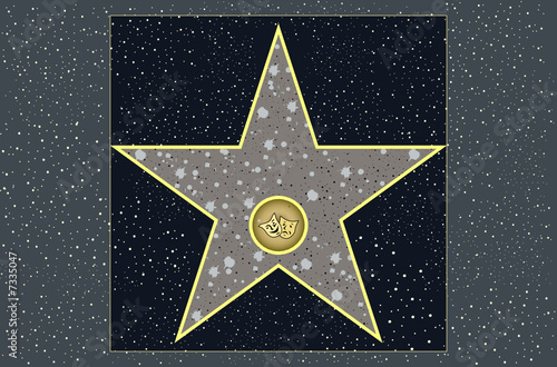 hollywood walk of fame live theater star in vector