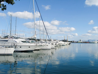 Port Alcudia, Mallorca with luxury boats