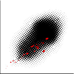 Dots background. White.