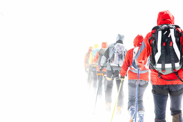 Group touring skiers