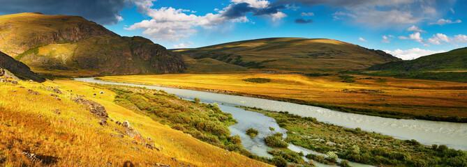 Wall Mural - Mountain panorama, plateau Ukok