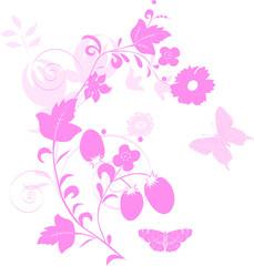light and dark pink decorarion