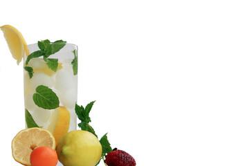 Zitrone mit Minze