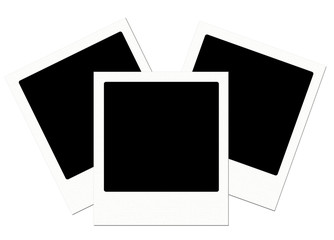 Trio of polaroids with a flag effect