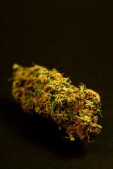 marijuana on black