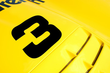 Wall Mural - colorful race car abstract close-up