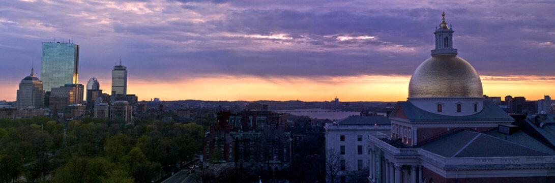 suset panorama of boston