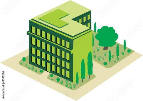 Immeuble ecologique fichier vectoriel libre de droits for Immeuble ecologique