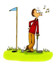 Golfer schummelt - Golf Comics Serie Bild 5