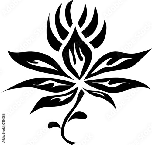 Tribal Flower Tattoo Stock Image And Royalty Free Vector Files On