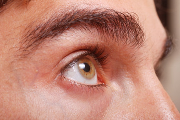 A man's eye closeup