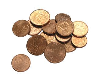 1633 - Centimes d'euros (tracés de détourage inclus)