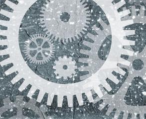 Grunge cogwheel pattern