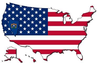 Nevada mit den vereinigten Staaten
