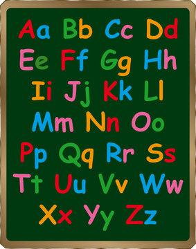 Alphabet on Blackboard