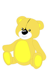 Children's toy, bear,Vector, illustration