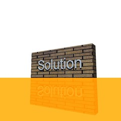 Wand mit Schrifzug Solution