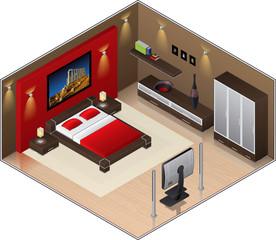 Modern Style wooden floor Large Bedroom